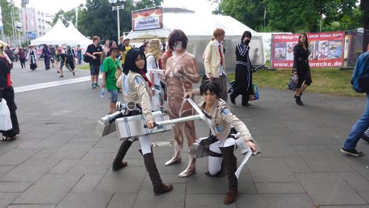 Shingeki no Kyojin anime cosplay